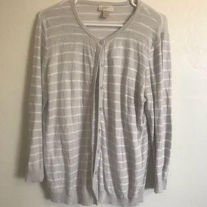 A striped sweater.